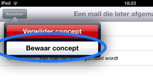 Omgaan met mailconcepten op de iPad